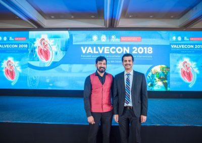 VALVECON-2018 மாநாட்டில் மருத்துவர் சி.எஸ்.முத்துக்குமரனுடன்