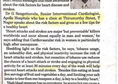 02nd February, 2010 - Matters of the heart T-NAGAR TALK