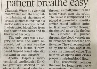 25th February, 2017 - New device used in ops help 74 year old patient breathe easy