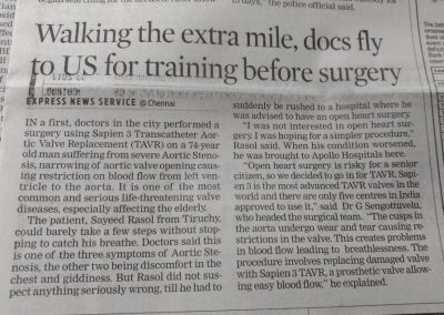 25th February, 2017 - Walking the extra mile, docs fly to US for training before surgery