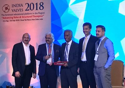 Felicitating Dr.Ganesh Manoharan during India Valves 2018
