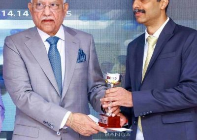 Receiving award from Apollo Hospitals Chairman on Founder_s Day