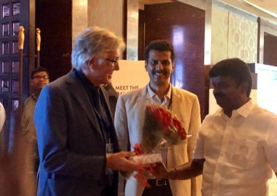 felicitating Zavier Escaned from Spain by Health Minister